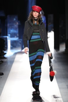 DESIGUAL_NYFW_AW17_ATWALK_LOOK 2 NEW YORK, NY - FEBRUARY 09:A model walks the runway at the Desigual show New York Fashion Week The Shows at Gallery 1, Skylight Clarkson Sq on February 9, 2017 in New York City
