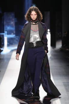 DESIGUAL_NYFW_AW17_ATWALK_LOOK 3 NEW YORK, NY - FEBRUARY 09:A model walks the runway at the Desigual show New York Fashion Week The Shows at Gallery 1, Skylight Clarkson Sq on February 9, 2017 in New York City