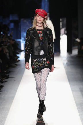 DESIGUAL_NYFW_AW17_ATWALK_LOOK 36 NEW YORK, NY - FEBRUARY 09:A model walks the runway at the Desigual show New York Fashion Week The Shows at Gallery 1, Skylight Clarkson Sq on February 9, 2017 in New York City