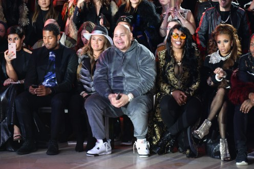 NEW YORK, NY - FEBRUARY 13: Fat Joe attends the Front Row for the Philipp Plein Fall/Winter 2017/2018 Women's And Men's Fashion Show at The New York Public Library on February 13, 2017 in New York City. (Photo by Andrew Toth/Getty Images for Philip Plein)