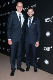 MADRID, SPAIN - MAY 04: Jens Henning Koch and Nacho Fernandez attend Montblanc de la Culture Arts Patronage Award at the Madrid Palacio Liria on May 4, 2017 in Madrid, Spain. (Photo by Carlos Alvarez/Getty Images for Montblanc)