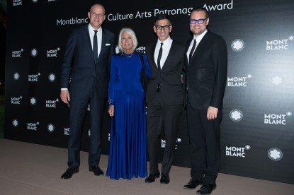 MADRID, SPAIN - MAY 04: Jens Henning Koch, Soledad Lorenzo, Sam Bardaouil and Till Fellrath attend Montblanc de la Culture Arts Patronage Award at the Madrid Palacio Liria on May 4, 2017 in Madrid, Spain. (Photo by Carlos Alvarez/Getty Images for Montblanc)