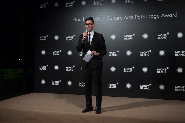 MADRID, SPAIN - MAY 04: Sam Bardaouil attends Montblanc de la Culture Arts Patronage Award At The Madrid Palacio Liria - Photocall on May 4, 2017 in Madrid, Spain. (Photo by Carlos Alvarez/Getty Images for Montblanc)