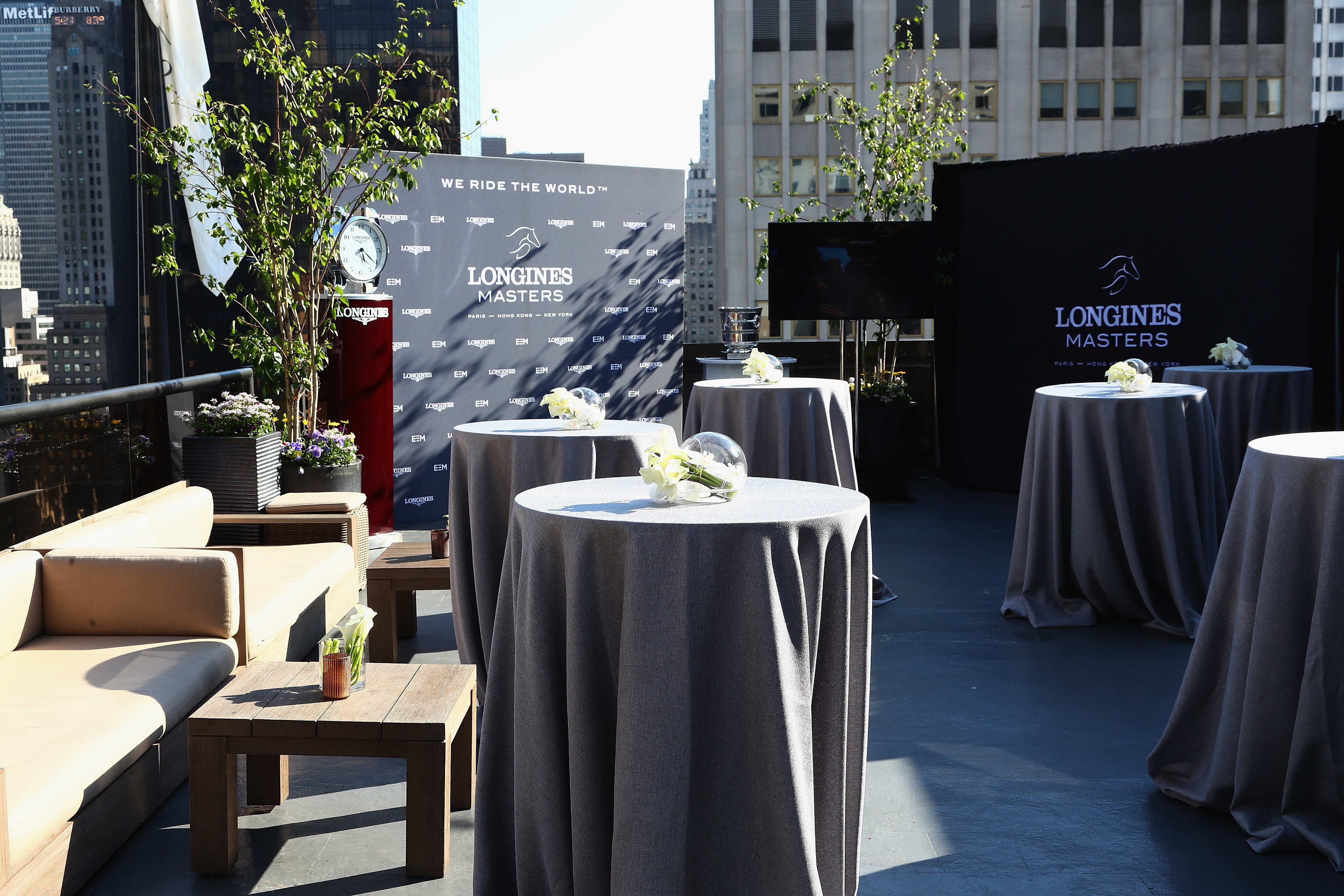 NEW YORK, NY - MAY 17: A view of the Longines Masters launch party celebrating Series' epic move to New York at Salon de Ning on May 17, 2017 in New York City. (Photo by Astrid Stawiarz/Getty Images for Longines)