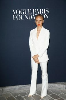 PARIS, FRANCE - JULY 04: Adwoa Aboah attends the Vogue Foundation Dinner during Paris Fashion Week as part of Haute Couture Fall/Winter 2017-2018 at Musee Galliera on July 4, 2017 in Paris, France. (Photo by Julien Hekimian/Getty Images for Vogue) *** Local Caption *** Adwoa Aboah