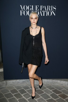 PARIS, FRANCE - JULY 04: Cara Delevingne attends Vogue Foundation Dinner during Paris Fashion Week as part of Haute Couture Fall/Winter 2017-2018 at Musee Galliera on July 4, 2017 in Paris, France. (Photo by Julien Hekimian/Getty Images for Vogue) *** Local Caption *** Cara Delevingne