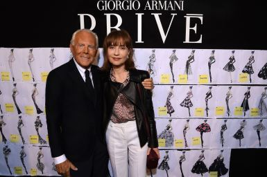 Giorgio Armani and Isabelle Huppert_SGP