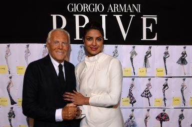 Giorgio Armani and Pryanka Chopra_SGP