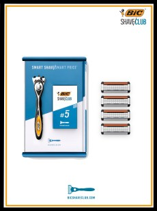 BIC SHAVE CLUB SHAVE BOX + LAMES 5 FRAME