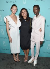 NEW YORK, NY - SEPTEMBER 06: (L-R) Vittoria Ceretti, Simona Cattaneo, and Achok Majak attend the Tiffany & Co. Fragrance launch event on September 6, 2017 in New York City. (Photo by Jamie McCarthy/Getty Images for Tiffany & Co.)