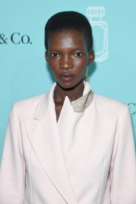 NEW YORK, NY - SEPTEMBER 06: Model Achok Majak attends the Tiffany & Co. Fragrance launch event on September 6, 2017 in New York City. (Photo by Jamie McCarthy/Getty Images for Tiffany & Co.)