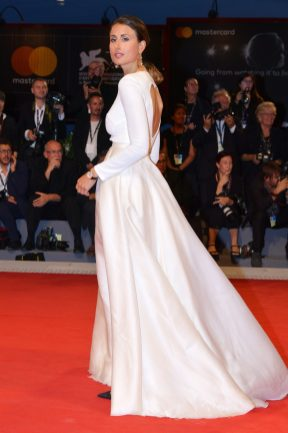 VENICE, ITALY - SEPTEMBER 04: Julia Haghjoo walks the red carpet ahead of the 'Three Billboards Outside Ebbing, Missouri' screening during the 74th Venice Film Festival at Sala Grande on September 4, 2017 in Venice, Italy. (Photo by Dominique Charriau/WireImage)