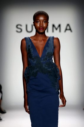 NEW YORK, NY - SEPTEMBER 07: A model walks the runway at Supima Design Competition SS18 during New York Fashion Week at Pier 59 on September 7, 2017 in New York City. (Photo by JP Yim/Getty Images for Supima Design Competition)