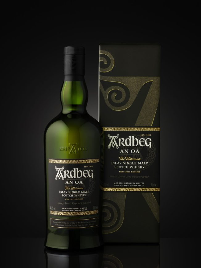 004 Ardbeg An Oa bottle & carton_Black (Native) [MHISWF148687 Revision-1]