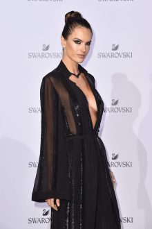 MILAN, ITALY - SEPTEMBER 20: Alessandra Ambrosio attends Swarovski Crystal Wonderland Party on September 20, 2017 in Milan, Italy. (Photo by Jacopo Raule/Getty Images for Swarovski) *** Local Caption *** Alessandra Ambrosio