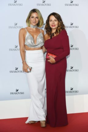 MILAN, ITALY - SEPTEMBER 20: Giovanna Ewbank and Nathalie Colin attend Swarovski Crystal Wonderland Party on September 20, 2017 in Milan, Italy. (Photo by Stefania M. D'Alessandro/Getty Images for Swarovski) *** Local Caption *** Giovanna Ewbank; Nathalie Colin