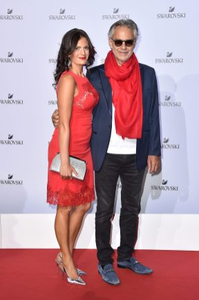 MILAN, ITALY - SEPTEMBER 20: Veronica Berti and Andrea Bocelli attend Swarovski Crystal Wonderland Party on September 20, 2017 in Milan, Italy. (Photo by Jacopo Raule/Getty Images for Swarovski) *** Local Caption *** Veronica Berti; Andrea Bocelli