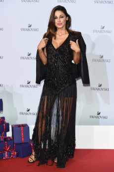 MILAN, ITALY - SEPTEMBER 20: Anna Tatangelo attends Swarovski Crystal Wonderland Party on September 20, 2017 in Milan, Italy. (Photo by Stefania M. D'Alessandro/Getty Images for Swarovski) *** Local Caption *** Anna Tatangelo