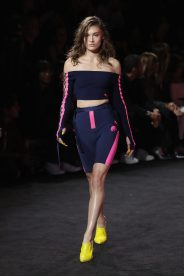 NEW YORK, NY - SEPTEMBER 10: Grace Elizabeth walks the runway wearing Look 15 at the FENTY PUMA by Rihanna Spring/Summer 2018 Collection at Park Avenue Armory on September 10, 2017 in New York City. (Photo by JP Yim/Getty Images for FENTY PUMA By Rihanna)