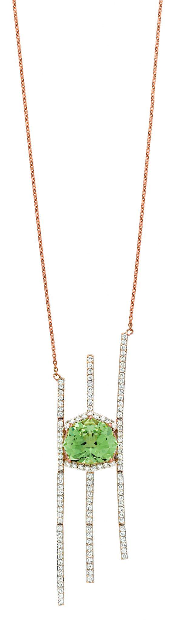 Gringoire Joaillier - ROSE - Quartz vert et diamants - WP1682QV-BTS