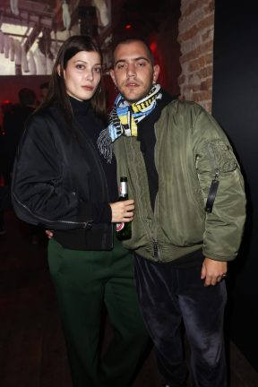 BERLIN, GERMANY - OCTOBER 11: Larissa Hofmann and Marc Goehring attend the Moncler X Stylebop.com launch event at the Musikbrauerei on October 11, 2017 in Berlin, Germany. (Photo by Sebastian Reuter/Getty Images for Moncler X Stylebop.com) *** Local Caption *** Larissa Hofmann;Marc Goehring