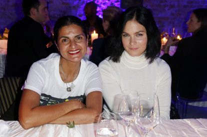 BERLIN, GERMANY - OCTOBER 11: Leyla Piedayesh and Leigh Lezark attend the Moncler X Stylebop.com launch event at the Musikbrauerei on October 11, 2017 in Berlin, Germany. (Photo by Sebastian Reuter/Getty Images for Moncler X Stylebop.com) *** Local Caption *** Leigh Lezark;Leyla Piedayesh