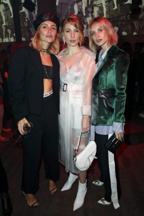 BERLIN, GERMANY - OCTOBER 11: Victoria Rader, Lisa Banholzer and Lisa Hahnbuck attend the Moncler X Stylebop.com launch event at the Musikbrauerei on October 11, 2017 in Berlin, Germany. (Photo by Sebastian Reuter/Getty Images for Moncler X Stylebop.com) *** Local Caption *** Victoria Rader;Lisa Hahnbuck;Lisa Banholzer