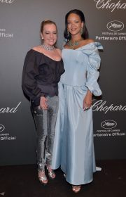 attends the Chopard ìSPACE Partyî, hosted by Chopard's co-president Caroline Scheufele and Rihanna, at Port Canto on May 19, 2017, in Cannes, France.
