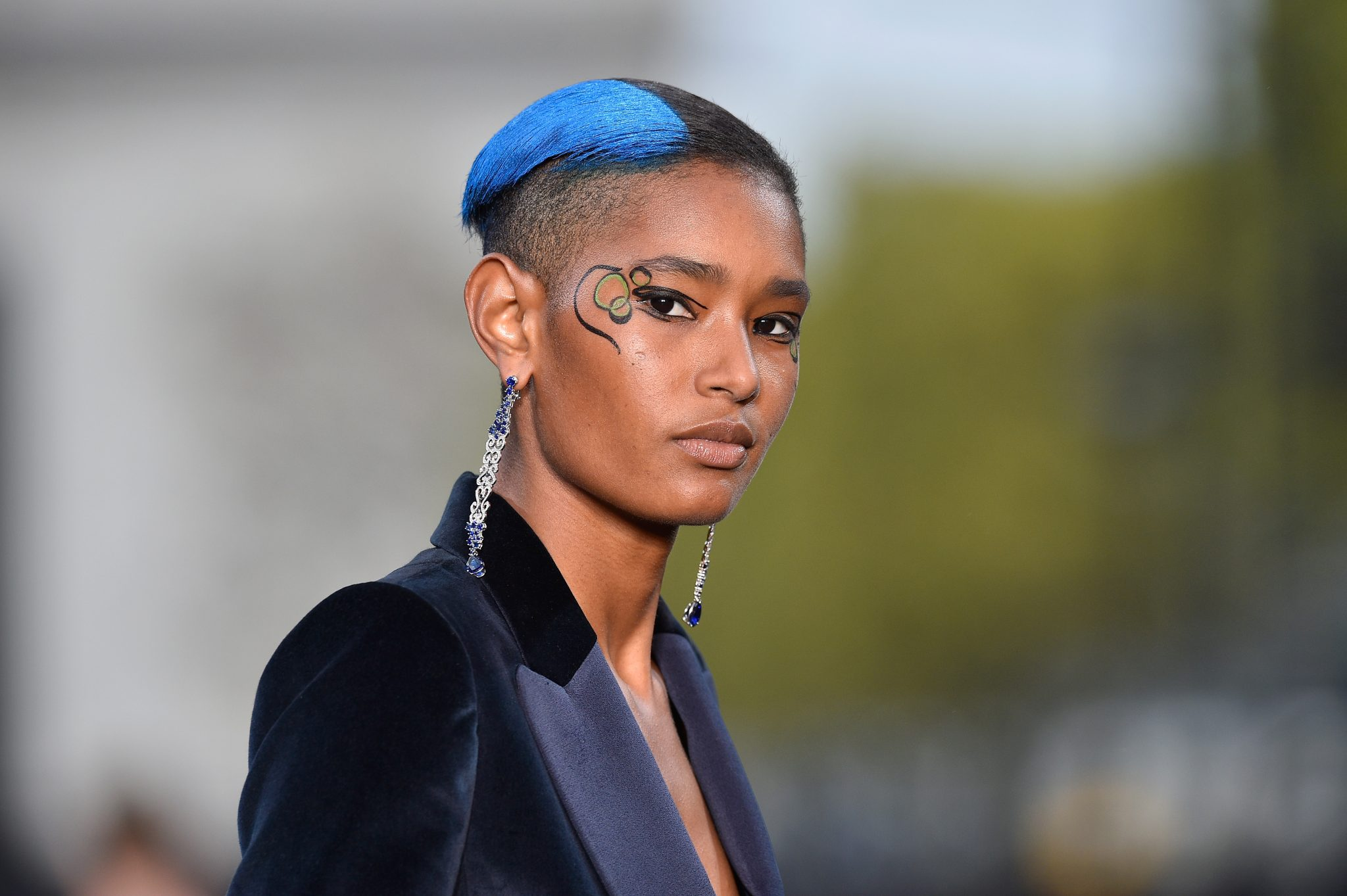 PARIS, FRANCE - OCTOBER 01: Ysaunny Brito walks the runway during Le Defile L'Oreal Paris as part of Paris Fashion Week Womenswear Spring/Summer 2018 at Avenue Des Champs Elysees on October 1, 2017 in Paris, France. (Photo by Kristy Sparow/Getty Images for L'Oreal)