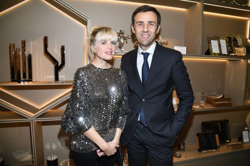 PARIS, FRANCE - NOVEMBER 23: Cecile Cassel and Olivier Fremont attend Christofle Saint-Honore Boutique Opening on November 23, 2017 in Paris, France. (Photo by Pascal Le Segretain/Getty Images for Christofle) *** Local Caption *** Cecile Cassel;Olivier Fremont
