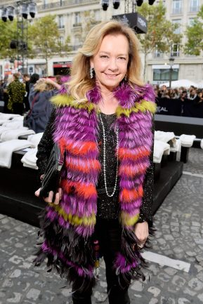 PARIS, FRANCE - OCTOBER 01: Caroline Scheufele attends Le Defile L'Oreal Paris as part of Paris Fashion Week Womenswear Spring/Summer 2018 at Avenue Des Champs Elysees on October 1, 2017 in Paris, France. (Photo by Victor Boyko/Getty Images)