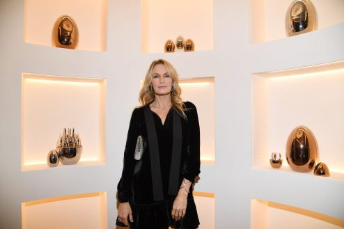 PARIS, FRANCE - NOVEMBER 23: Estelle Lefebure attends Christofle Saint-Honore Boutique Opening on November 23, 2017 in Paris, France. (Photo by Pascal Le Segretain/Getty Images for Christofle) *** Local Caption *** Estelle Lefebure