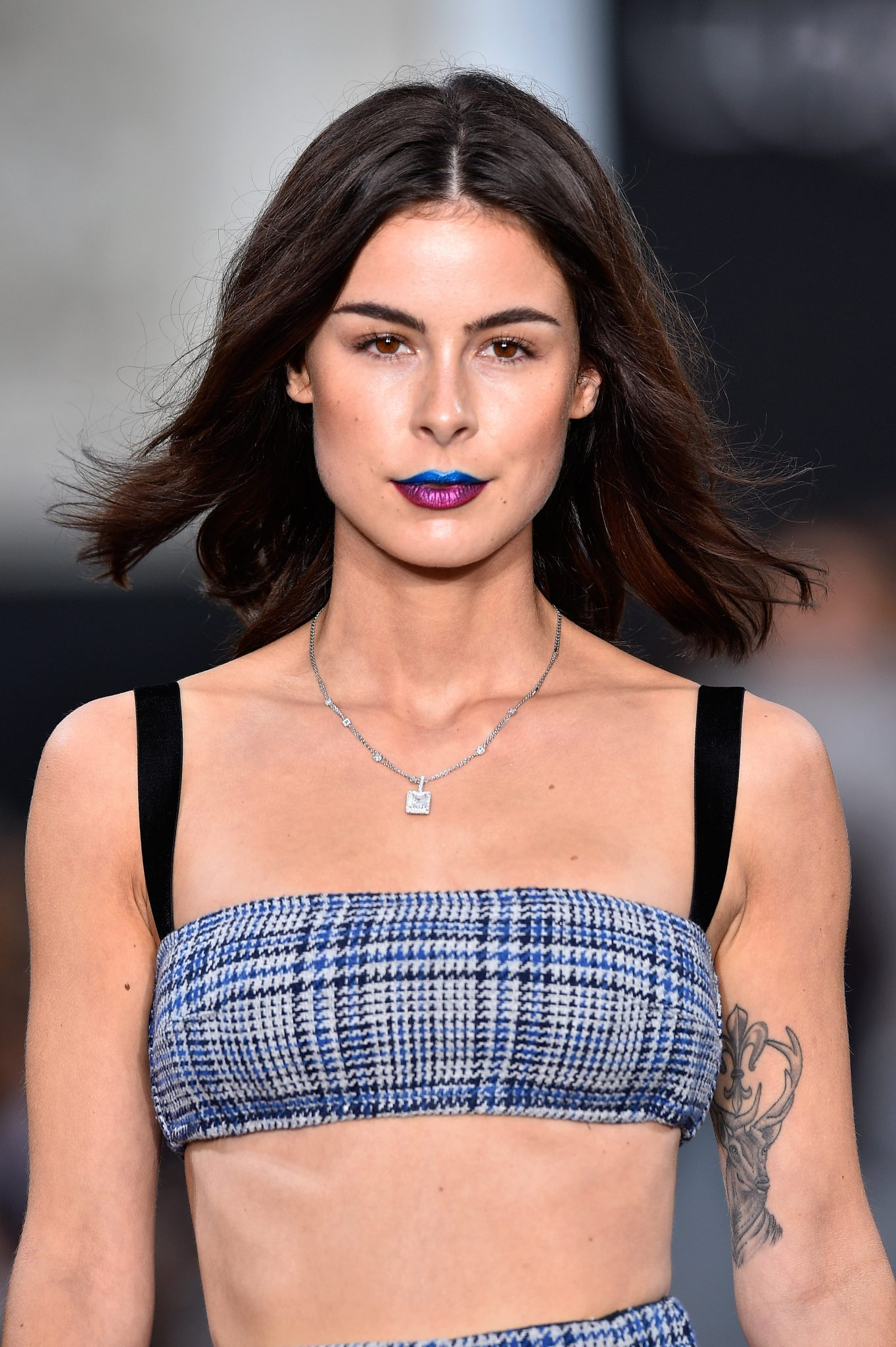 PARIS, FRANCE - OCTOBER 01: Lena Meyer Landrut walks the runway during Le Defile L'Oreal Paris as part of Paris Fashion Week Womenswear Spring/Summer 2018 at Avenue Des Champs Elysees on October 1, 2017 in Paris, France. (Photo by Kristy Sparow/Getty Images for L'Oreal)