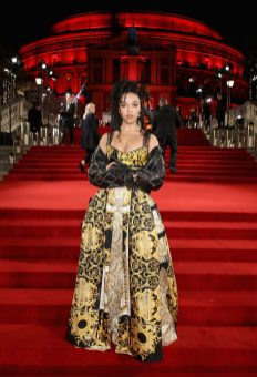 LONDON, ENGLAND - DECEMBER 04: FKA Twigs attends The Fashion Awards 2017 in partnership with Swarovski at Royal Albert Hall on December 4, 2017 in London, England. (Photo by Mike Marsland/BFC/Getty Images)