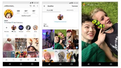 Instagram lance les archives des Stories et les Stories à la une