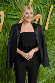 LONDON, ENGLAND - DECEMBER 04: Holly Willoughby attends The Fashion Awards 2017 in partnership with Swarovski at Royal Albert Hall on December 4, 2017 in London, England. (Photo by Jeff Spicer/BFC/Getty Images)