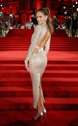 LONDON, ENGLAND - DECEMBER 04: Izabel Goulart attends The Fashion Awards 2017 in partnership with Swarovski at Royal Albert Hall on December 4, 2017 in London, England. (Photo by Mike Marsland/BFC/Getty Images)
