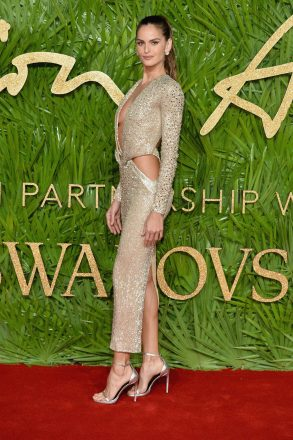 LONDON, ENGLAND - DECEMBER 04: Izabel Goulart attends The Fashion Awards 2017 in partnership with Swarovski at Royal Albert Hall on December 4, 2017 in London, England. (Photo by Jeff Spicer/BFC/Getty Images)