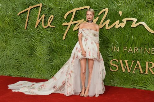 LONDON, ENGLAND - DECEMBER 04: Poppy Delevingne attends The Fashion Awards 2017 in partnership with Swarovski at Royal Albert Hall on December 4, 2017 in London, England. (Photo by Jeff Spicer/BFC/Getty Images)