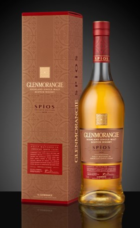 Glenmorangie Private Edition 9 Spios_Bottle and Pack on Black background