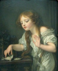 Greuze-L'oiseau-mort-1759-1800