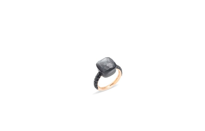 NUDO ring with gray moonstone and black diamonds by Pomellato_2018 (2)