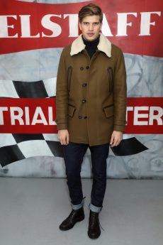LONDON, ENGLAND - JANUARY 08: Toby Huntington-Whiteley attends the Belstaff AW18 Mens & Womens Presentation during London Fashion Week Men's January 2018 on January 8, 2018 in London, England. (Photo by Darren Gerrish/WireImage) *** Local Caption *** Toby Huntington-Whiteley