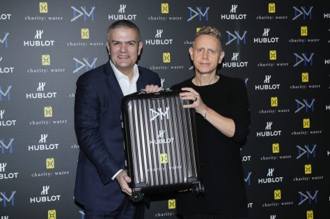 attends Big Bang Depeche Mode 'The Singles' Limited Edition launch on January 26, 2018 in Milan, Italy.