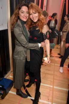 LONDON, ENGLAND - FEBRUARY 18: Alice Temperley and Charlotte Tilbury attend Temperley London Fashion Show Fall/Winter 18 during London Fashion Week at Seymour Leisure Centre on February 18, 2018 in London, England. (Photo by David M. Benett for Temperley London )