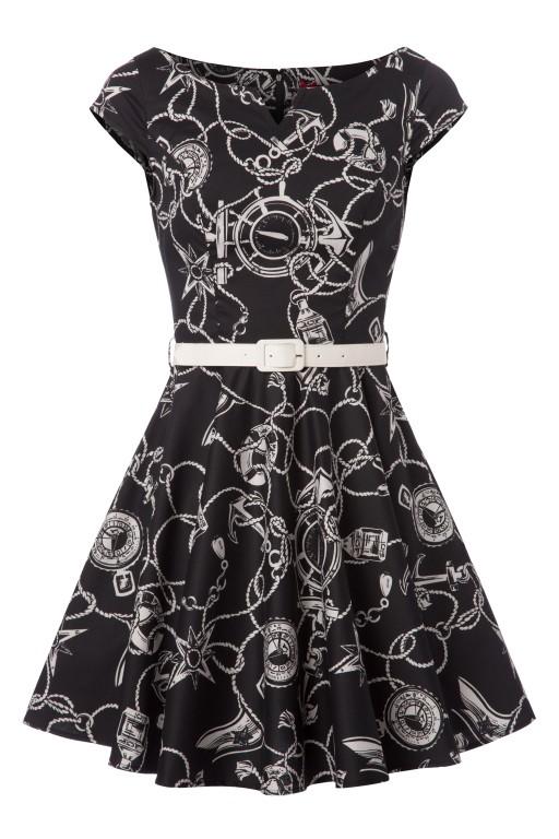 Bunny - Mistral Mini Dress Années 50 en Noir - EUR 53,95