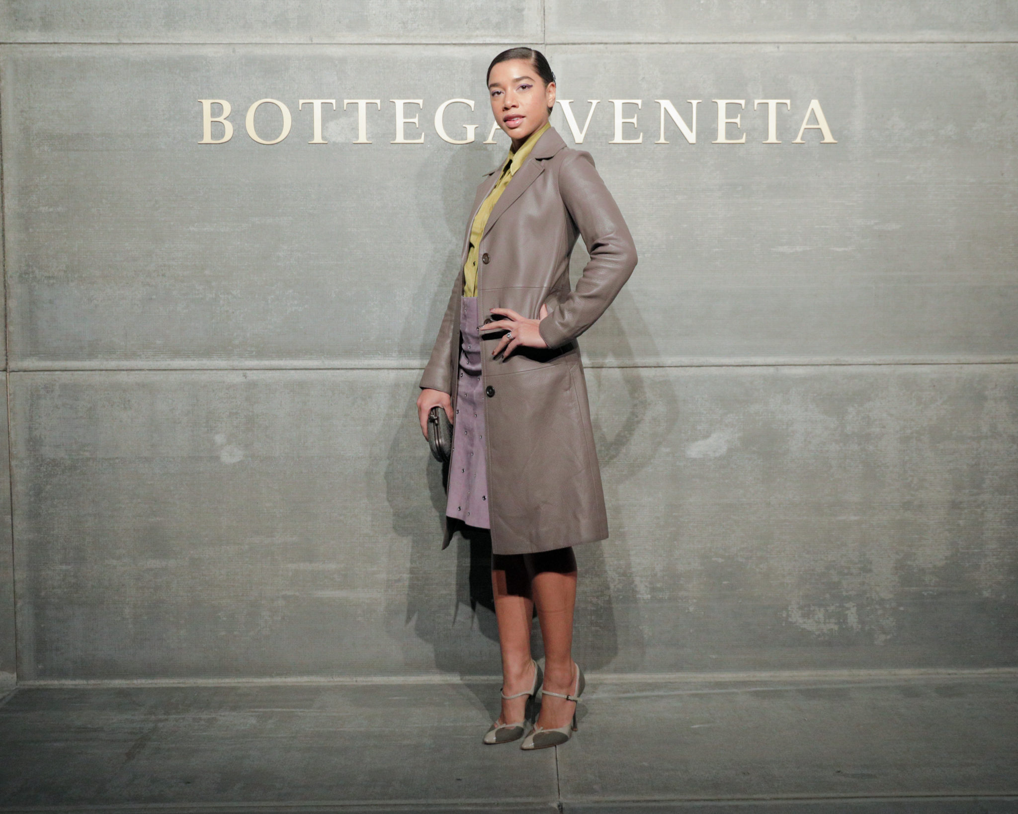 Hannah Bronfman, At the Bottega Veneta Fall Winter 2018 show at the American Stock Exchange in New York City