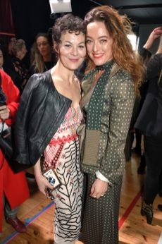 LONDON, ENGLAND - FEBRUARY 18: Helen McCrory and Alice Temperley attend Temperley London Fashion Show Fall/Winter 18 during London Fashion Week at Seymour Leisure Centre on February 18, 2018 in London, England. (Photo by David M. Benett for Temperley London )