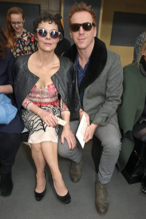LONDON, ENGLAND - FEBRUARY 18: Damian Lewis and Helen McCrory attend Temperley London Fashion Show Fall/Winter 18 during London Fashion Week at Seymour Leisure Centre on February 18, 2018 in London, England. (Photo by David M. Benett for Temperley London )
