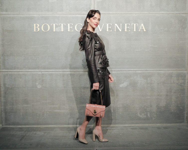 Jessica Kahawaty, At the Bottega Veneta Fall Winter 2018 show at the American Stock Exchange in New York City